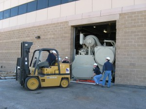 Our Facility relocation services include large machine moving